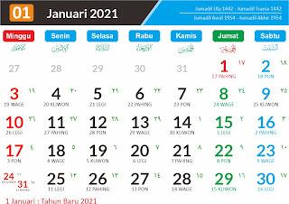 Kalender 2021 Dalam Bahasa Inggris