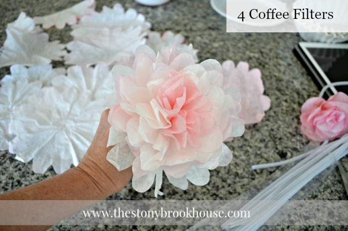 Peony with 4 coffee filters