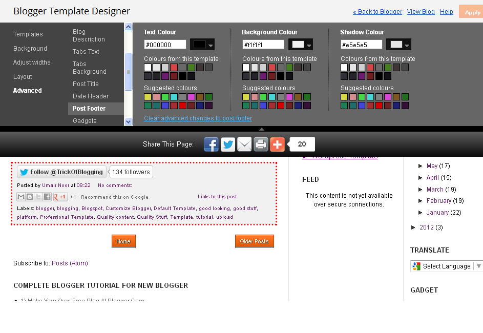 Customise Blogger Default Template To Make Professional Template 2