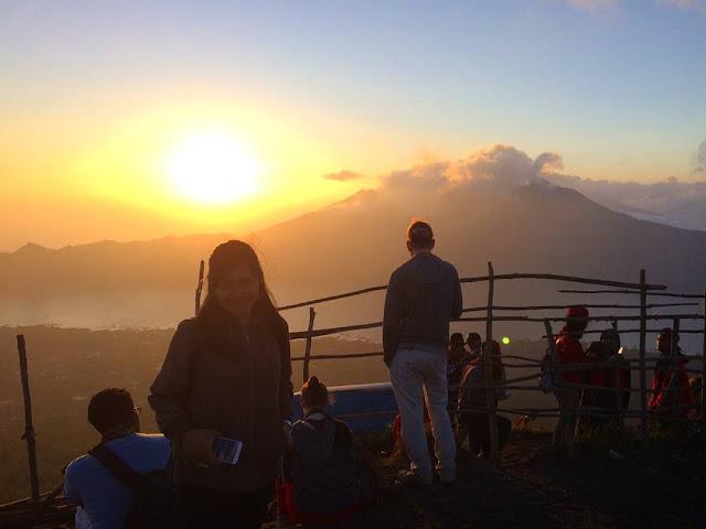 sunrise puncak gunung batur
