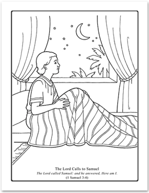 the call of samuel coloring pages | A Year of FHE: 2012 - Wk 09: The Lord Calls Samuel