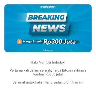 Rekor Baru, Harga Bitcoin Tembus Rp 300 Juta Pada Desember 2020