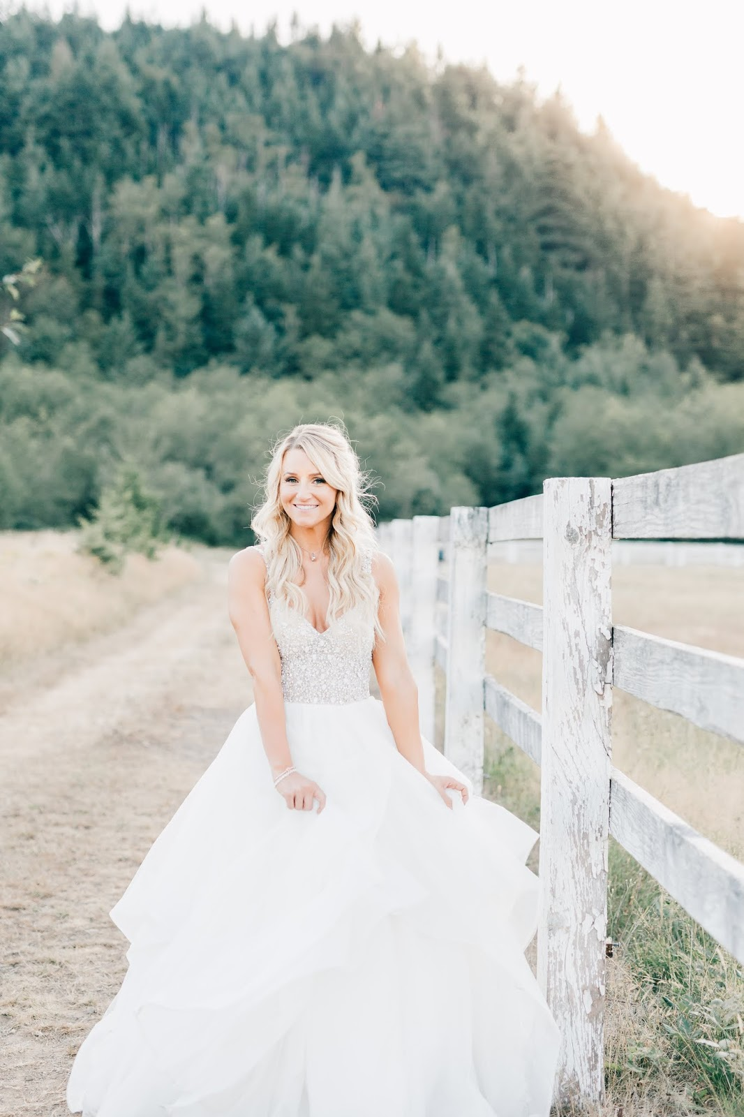 Romantic Wedding Gown-Rein Fire Ranch Wedding-PNW Wedding Photographers-Something Minted Photography