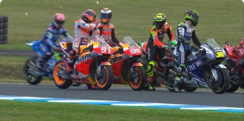 Bertengkaran Karena Senggolan Marquez Dan Lorenzo Adu Cekcok Di FP2 MotoGP 2019