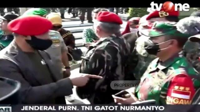 Dihadang Dandim, Gatot: Sepanjang Saya Jadi Tentara, di TMP Tidak Pernah Banyak TNI dan Polisi