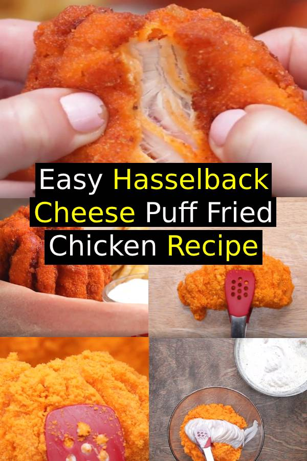 Easy Hasselback Cheese Puff Fried Chicken Recipe | Easy Chicken Recipe | Easy Dinner Recipe #chicken #chickenrecipe #cheese #maindish #dinner #dinnerrecipe
