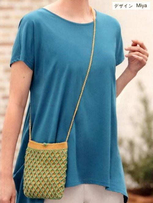 Crochet Cross-Body Bag - Casual