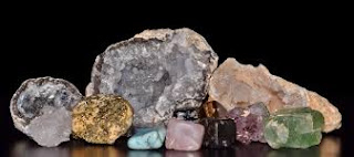 Seven (7) types of minerals found within the earth's surface.