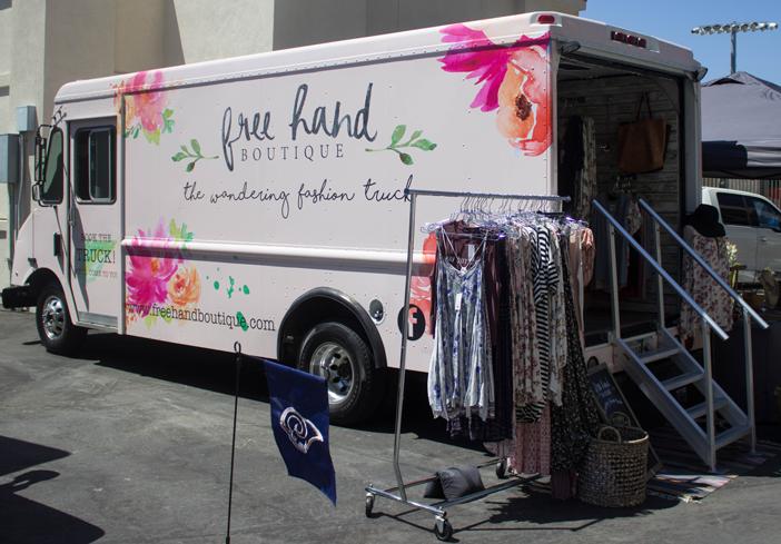 Free Hand Boutique Fashion Truck at Rose Bowl Flea Market