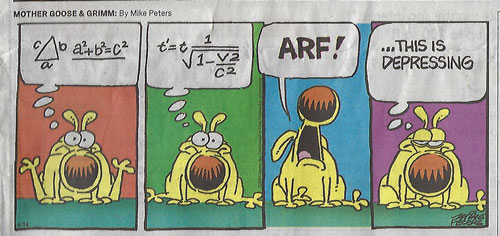 Physicist wannabes come in all shapes and sizes (Source: OCA Register, Mike Peters)