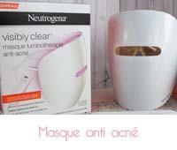 masque de luminothérapie anti-acné Visibly clear de Neutrogena