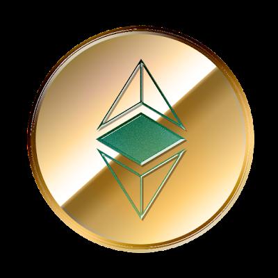 イーサリアム・クラシック(Ethereum Classic)のフリー素材(金貨ver)