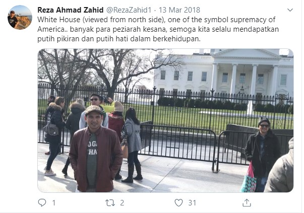 Gus reza Ahmad Zahid Studi/kuliah di amerika