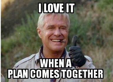 Image result for a team plan comes together