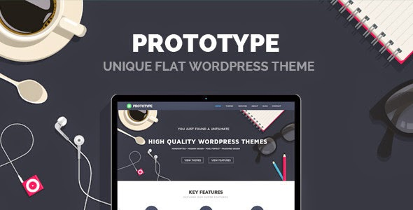 New Premium Flat WordPress Theme