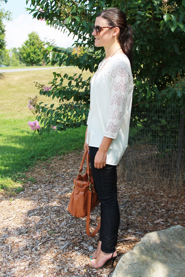 Naturally Me, Fall, Fall Outfit, Fall Outfit Idea, Crocheted Top, Skinny Jeans, Forever 21 Jeans