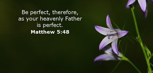 Be perfect, therefore, as your heavenly Father is perfect.