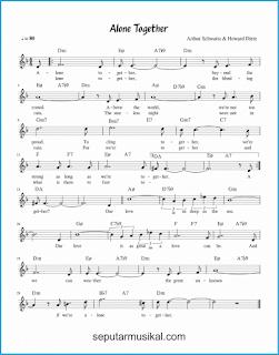 chord alone together lagu jazz standar