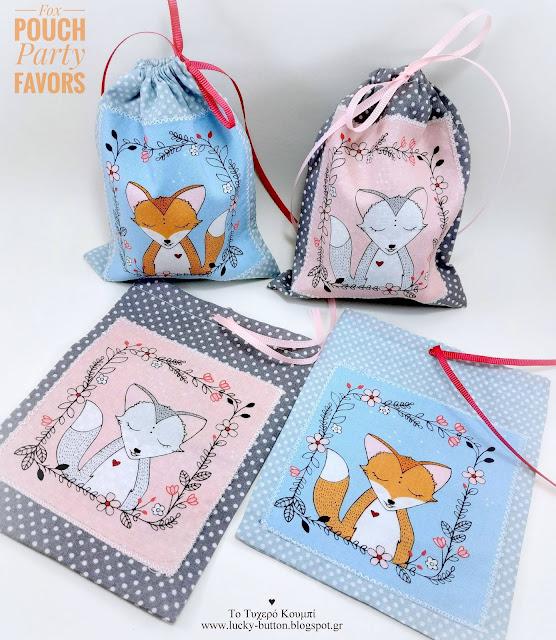 Fox pouch, Party Favors,