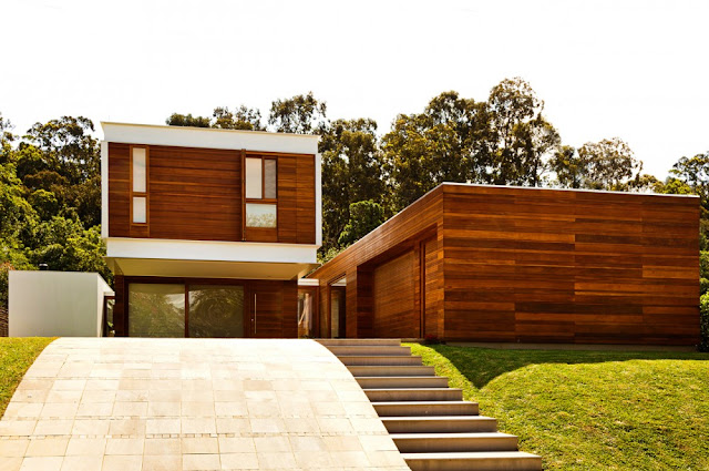 Picture of lovely modern home built on the small hill