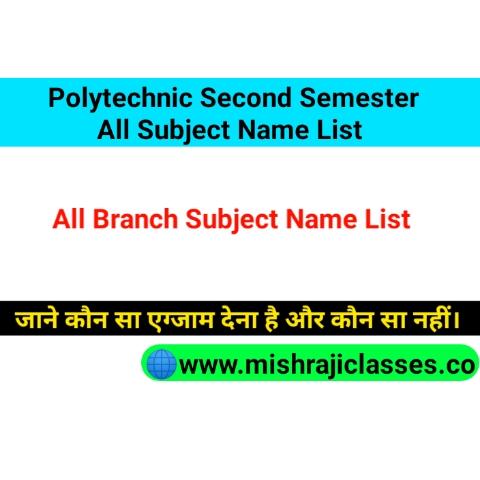 Bteup 2nd Semester Subject Name List