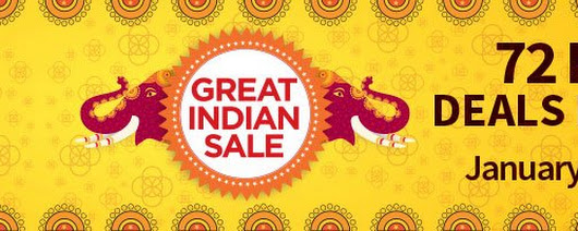 Amazon Great Indian sale on January 21,22,23