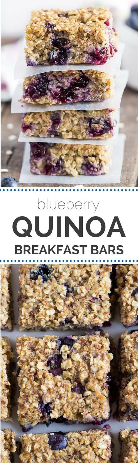 Blueberry Quinoa Breakfast Bars