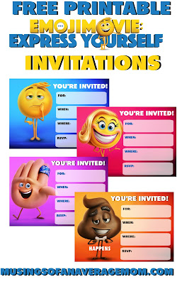 emoji movie free party printables
