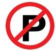 Tanda di samping berarti kendaraan dilarang parkir.