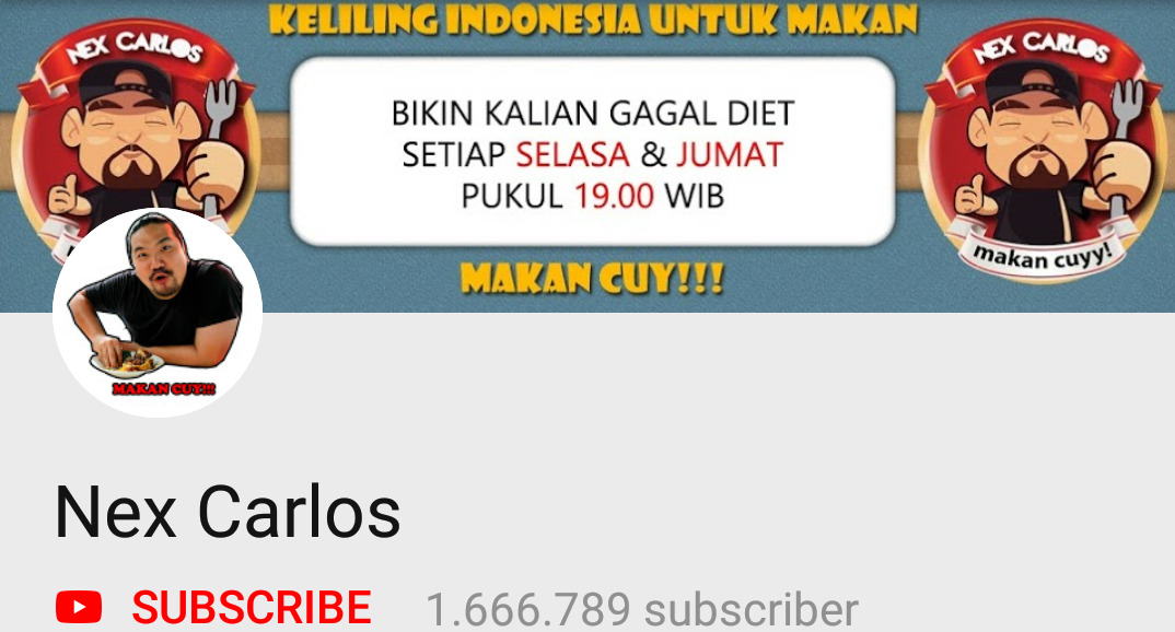 5 Youtuber Kuliner Indonesia Unik Lagi Naik Daun 2019