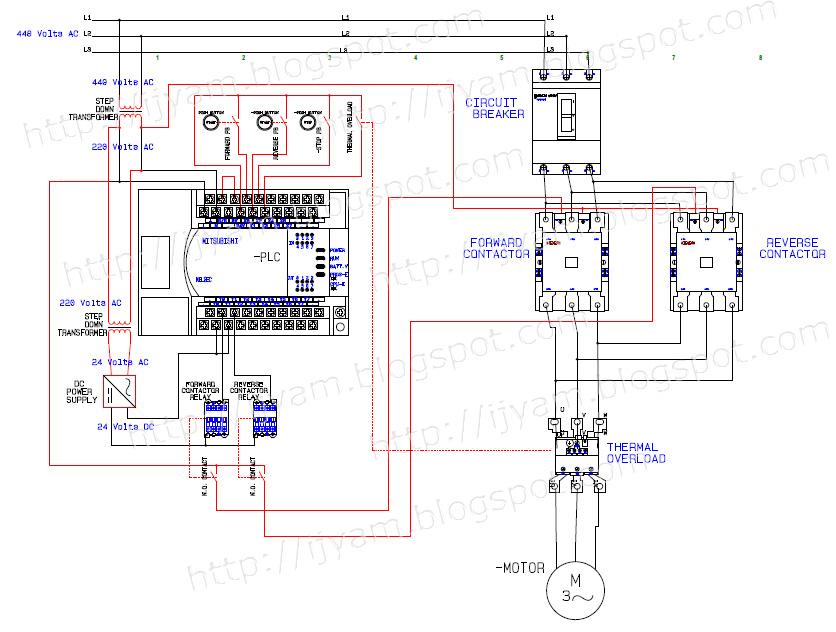 motor starter wiring diagram of phase 1