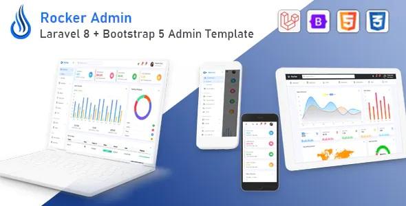 Best Laravel 8 + Bootstrap 5 Admin Template