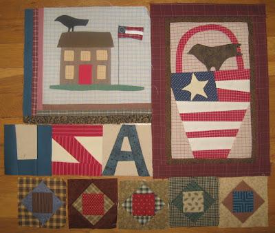 blocks for Cheri Payne's Sweet Land of Liberty quilt