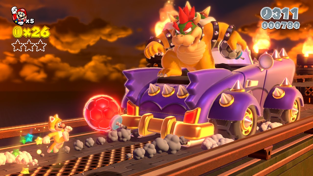 Super Mario 3D World: how to defeat Bowser's Car