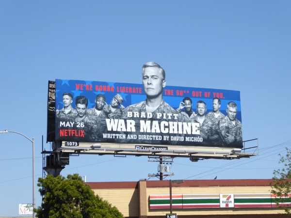 Brad Pitt War Machine extension billboard