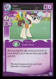 My Little Pony Gyro, Poindexter Premiere CCG Card