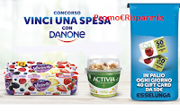 Logo Concorso ''Vinci una spesa con Danone'' : ogni giorno 40 buoni spesa Esselunga