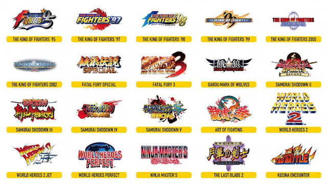 Lista de juegos Neo Geo Arcade Stick Pro