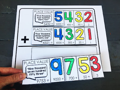 Place value flip books with adding and subtracting mats