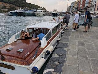Taking a boat from Porto Venere to Palmaria