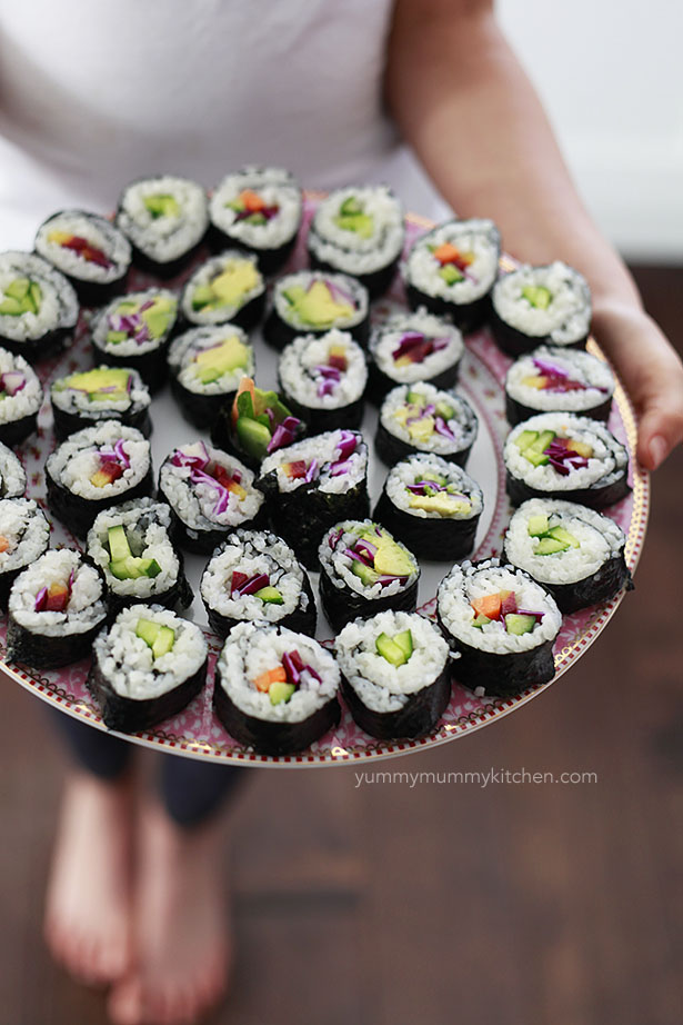 veggie vegetarian sushi