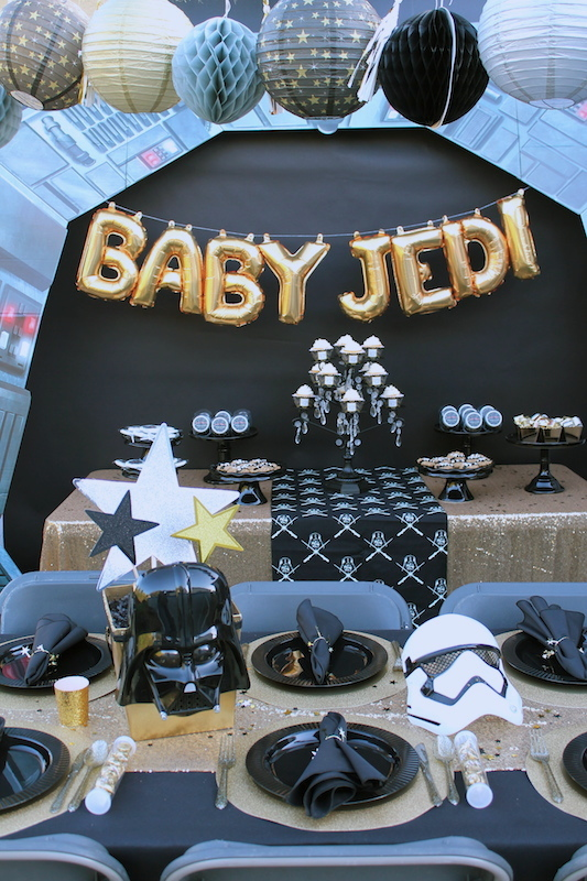 star wars baby shower ideas shindigz laura 39 s little party