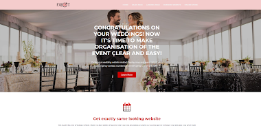 PROFESSIONAL WEDDING WEBSITE FOR ONLY $99 WITHIN 24 HOURS