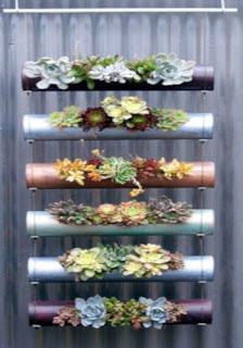 decoración con un jardín vertical