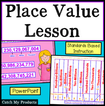 Math lesson on place value, PowerPoint,  #math #teachers