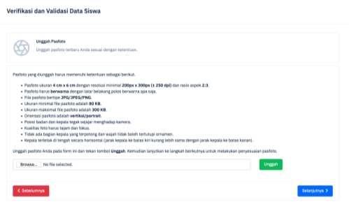 unggah pasfoto verifikasi dan validasi data siswa di ltmpt tahun 2021 tomatalikuang.com