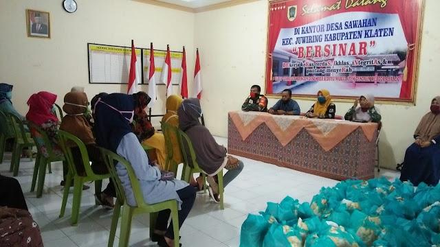 Babinsa Sawahan Hadiri Pertemuan Rutin Kader Posyandu dan PKK