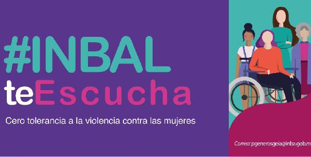"""El INBAL promueve """"Cero tolerancia"""" al acoso y al hostigamiento sexual en centros escolares"""