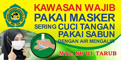 Banner Sekolah Kawasan Wajib Memakai Masker - Athaya Prima