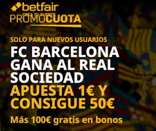 promocuota betfair Real Sociedad v Barcelona 13-1-2021